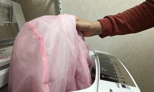洗濯機で丸洗いできる